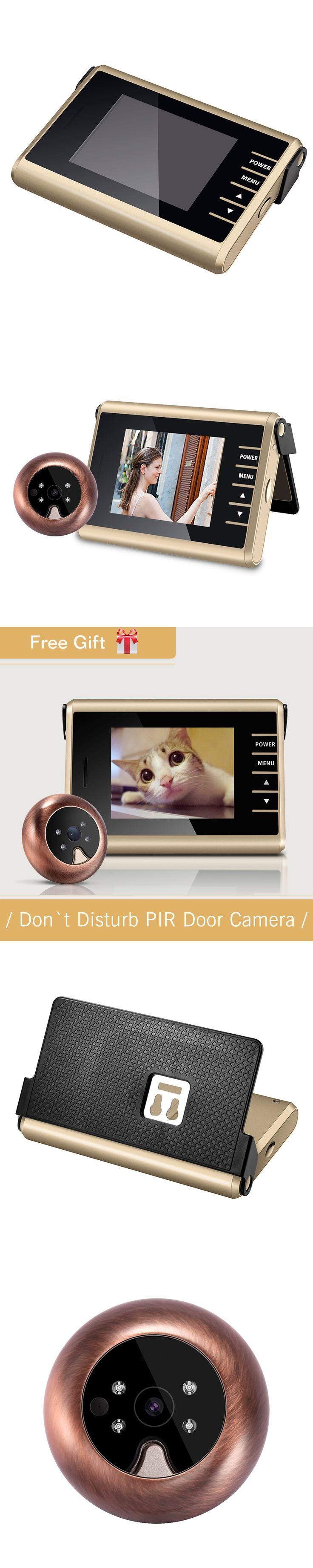 "New D12 Easy DIY 3.0"" LCD Digital Wireless Door Viewer Peephole Camera 1.0Mega pixels Photo/Video Recording Wireless Door Camera"