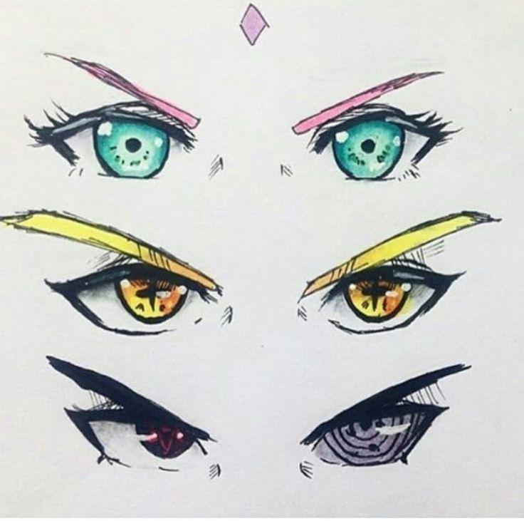 Ojos en dibujo del equipo 7