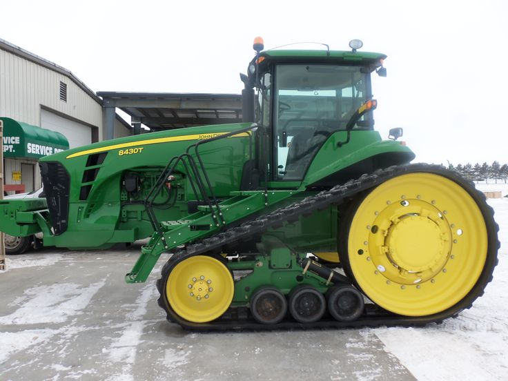 This JOhn Deere 8430T was running as these pictures were being taken.Tested in  2006 @ 258 PTO hp,219 dbr hp,28,790 lbs,31,500  ballast weight