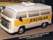 Volkswagen T2 Kombi Schoolbus Free Vehicle Paper Model Download