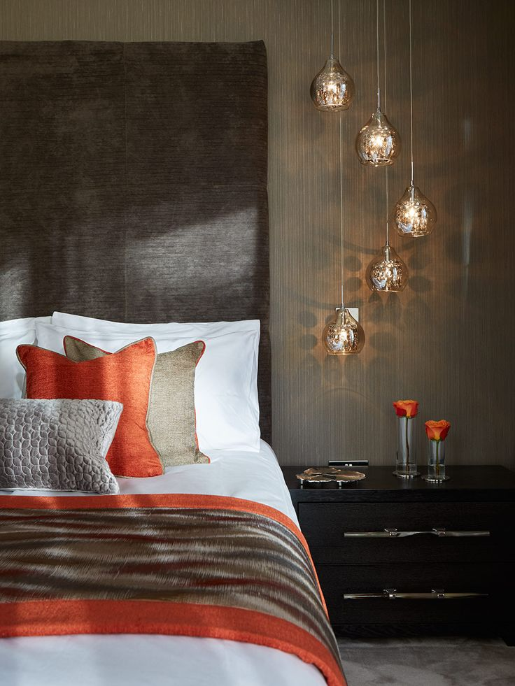Bedroom Inspiration   Oranges and warm colours create a cosy setting in  this bedroom. The 25  best Orange bedroom decor ideas on Pinterest   Orange room