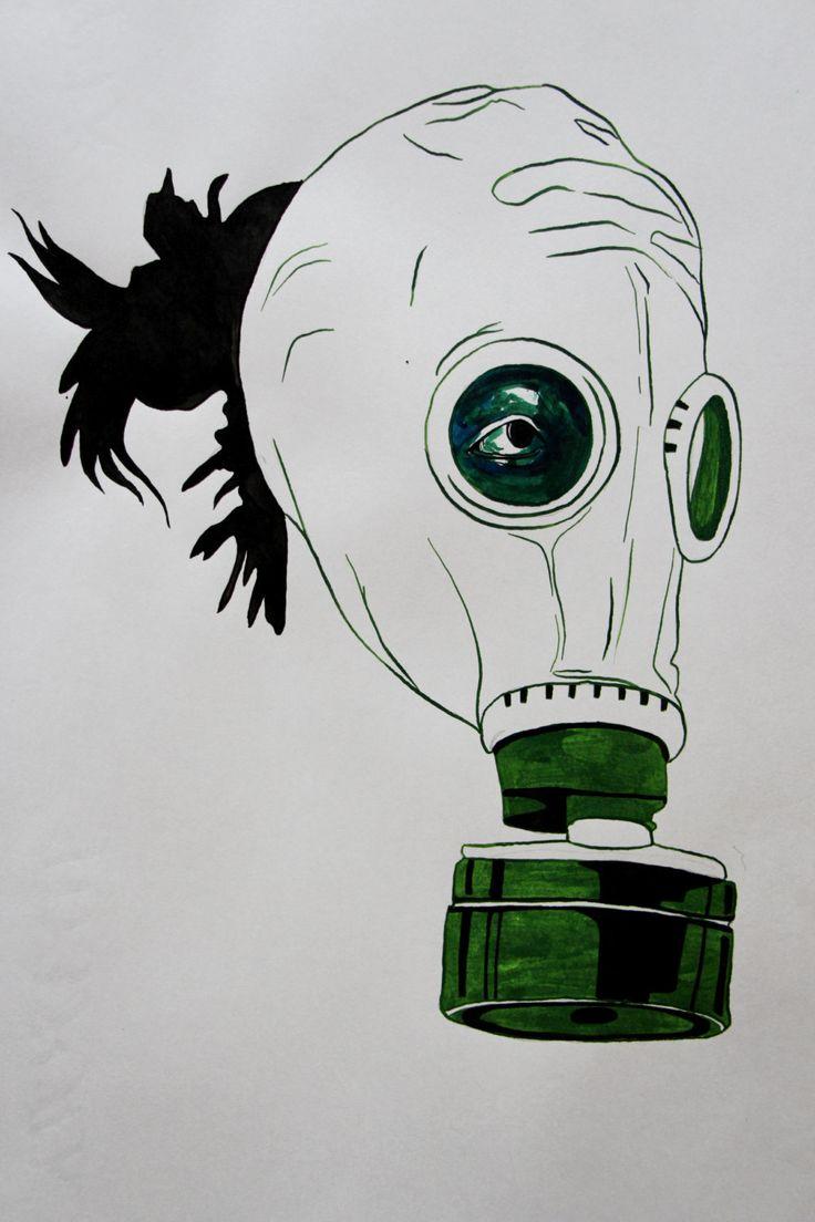 Hedendaagse Office illustraties / zwart en groene kunst door ArtRasa