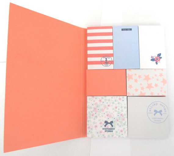 Booklet with 7 cute sticky notes  nautical theme by MrsLeNoble