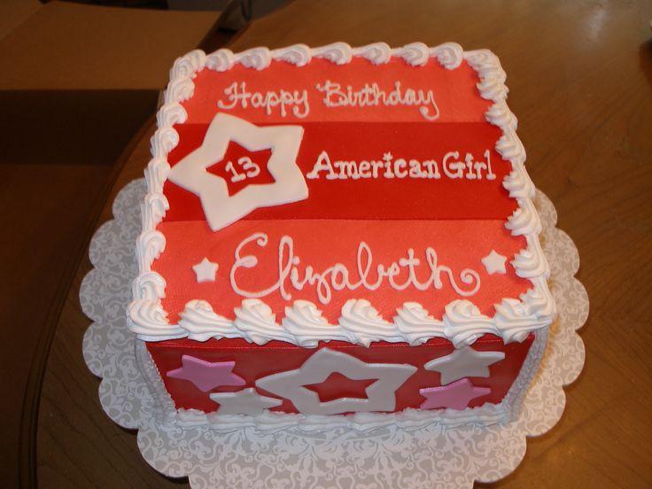 American Girl Bday cake AG Birthday Party Pinterest