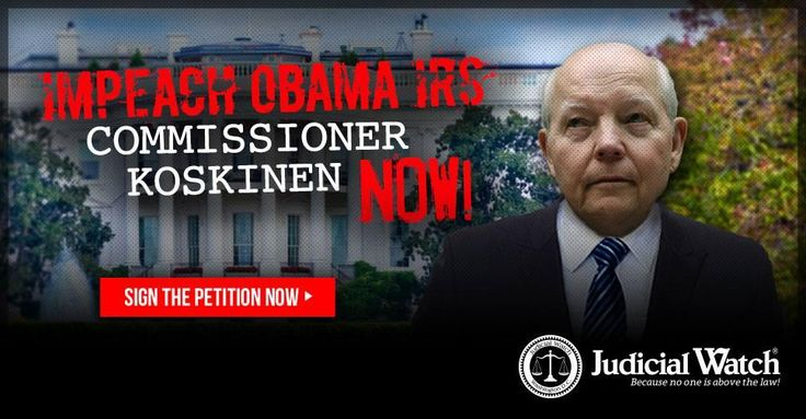 Koskinen has aided and abetted the Obama administration in covering up a scandal of monstrous proportion and severity –the chilling Obama administration scheme that involved former IRS employee Lois Lerner to deploy the awesome power of the IRS in order to cripple conservative groups and target conservative individuals and help President Obama win re-election in 2012.  Whereas, IRS Commissioner Koskinen has abused his office through dereliction of duty, failure to comply with court orders…