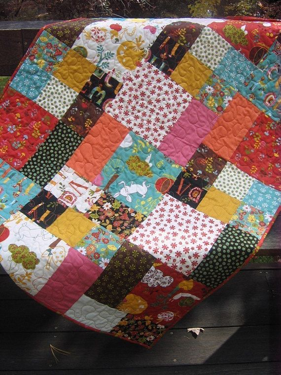 Pdf Quilt Pattern Easy And Quick Two Sizes Flowers