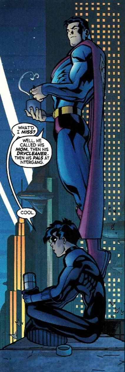 Nightwing and Superman together... Cool.