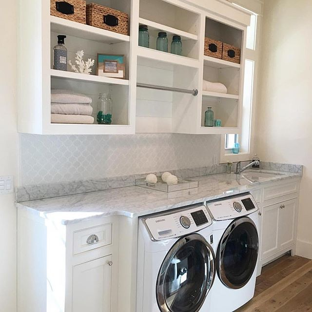WEBSTA @ the_real_houses_of_ig - Weekend laundry room inspiration from @our_coastal_farmhouse