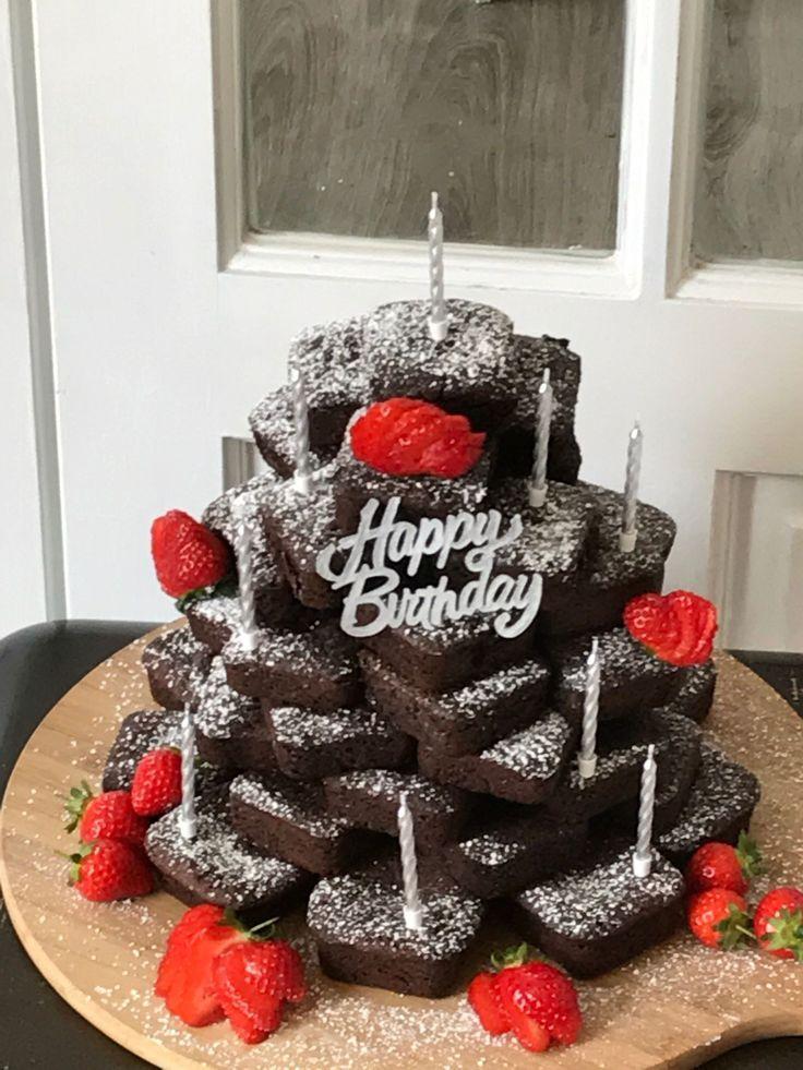 Pastel de cumpleaños Brownie Pastel de cumpleaños Brownie Pastel de cumpleaños Pinterest ……   – Desserts Rezepte