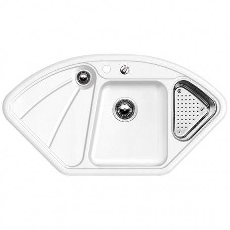 Delta Blanco ceramika PuraPlusTM zlewozmywak   odsączarka stalowa biały połysk - 514808  http://www.hansloren.pl/