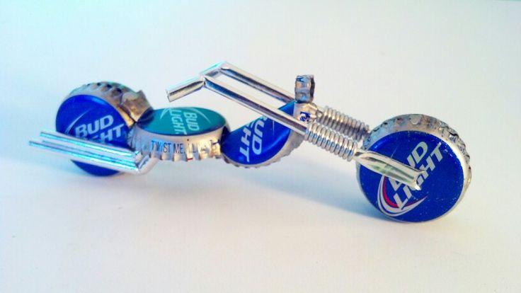 Bud Light bottle cap bike.