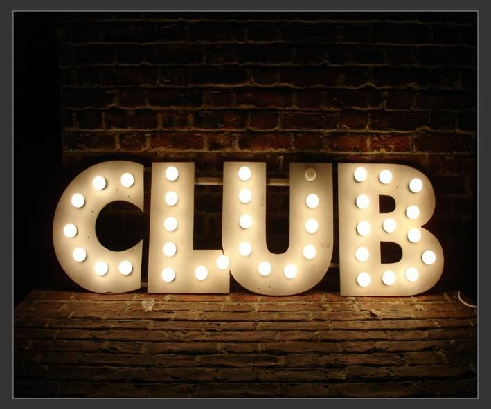 """Electro Signs - Sign Hire - CLUB - Bulb Sign - Size : 5' x 18"""""""