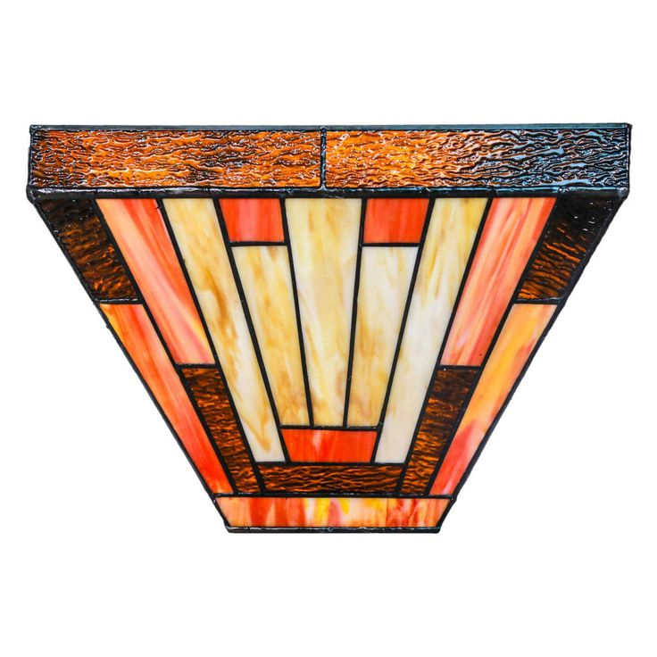 River of Goods Stained Glass Sunset 15050S LED Wireless Wall Sconce - 15050S