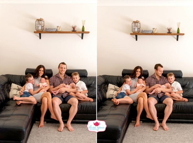 Sophie Guidolin with her twin girls and family photographed by Elise Gow Photography.