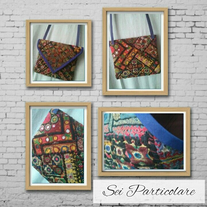 Boho-bag with indian fabric. Handmade and unique. By Sei Particolare.