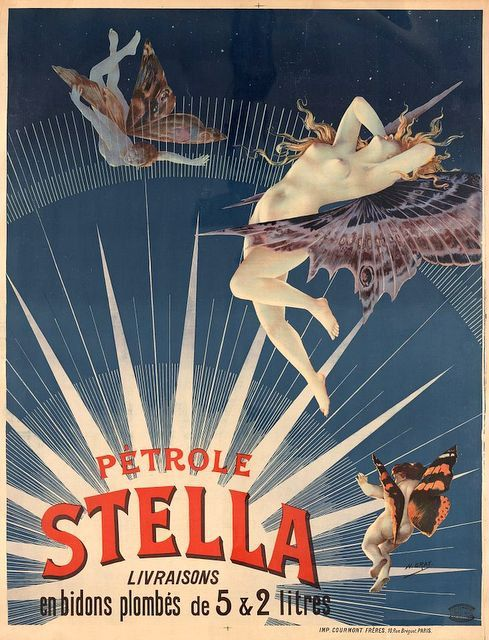 Art Nouveau Graphic Henry Gray Stella Gasoline Ad by Vividiom, $5.00