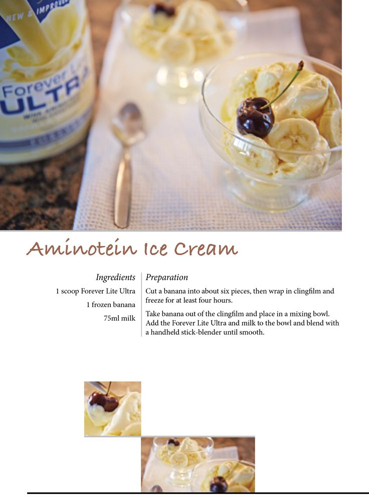 Aminotein Ice Cream with Forever Lite Ultra #ForeverTreats