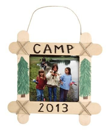 Photo Ornament camp themed craft VBS