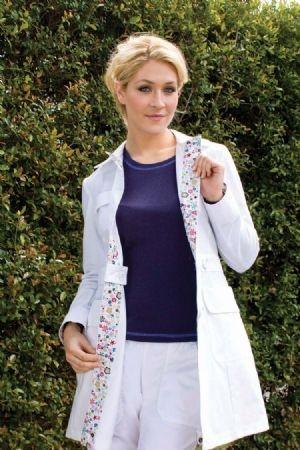 lab coat or cute spring jacket?  hmm...