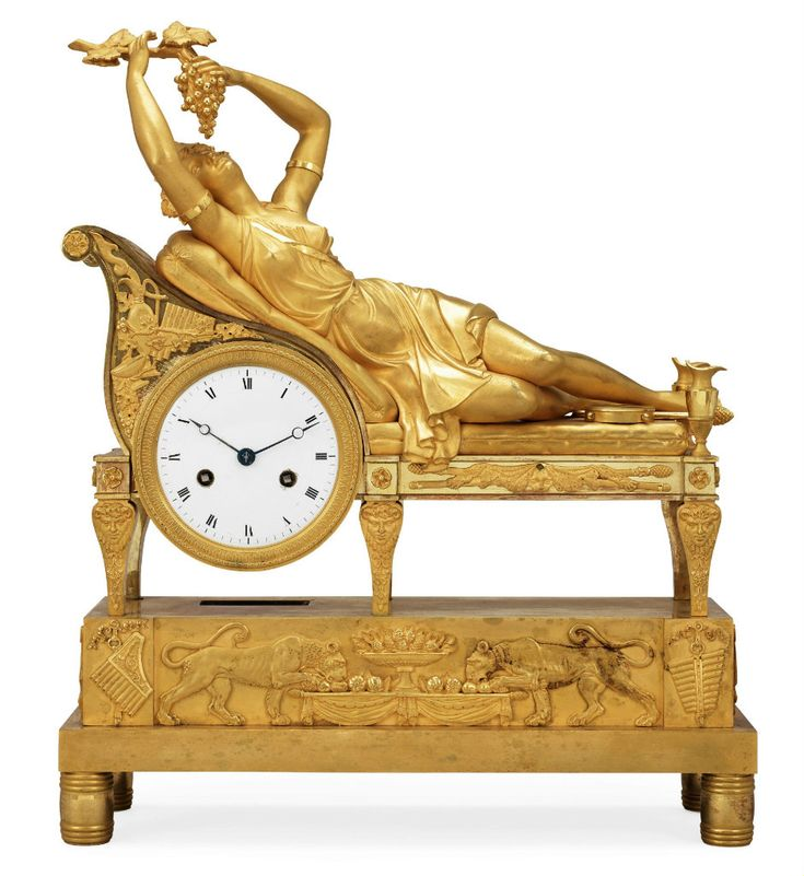 a french empire early 19th century mantel clock - Mantle Clock