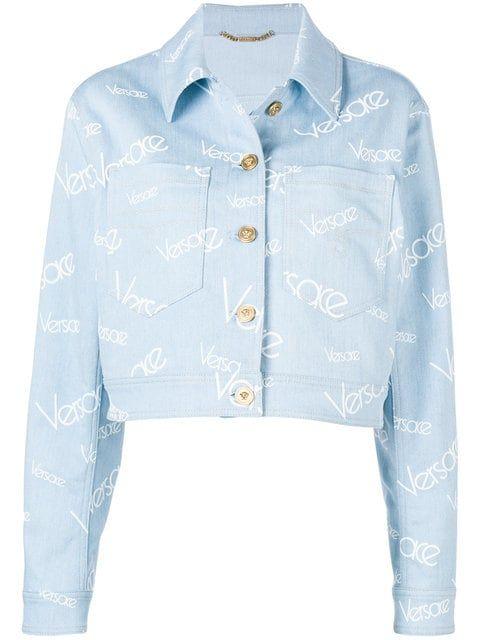 Logo Vintage Denim Shop Versace Jacket qw0zzC