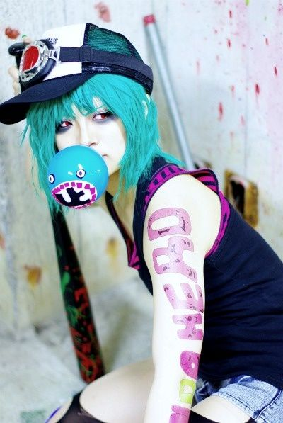Gumi Megpoid (Vocaloid) song: Panda Hero= WOW :O ok that's a really good cosplay