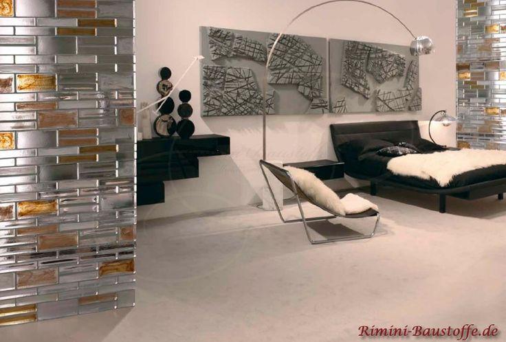 Wand und Fassade #Glasbaustein Pietre di Vetro in den #Farben Neutral und Cloud Ambra