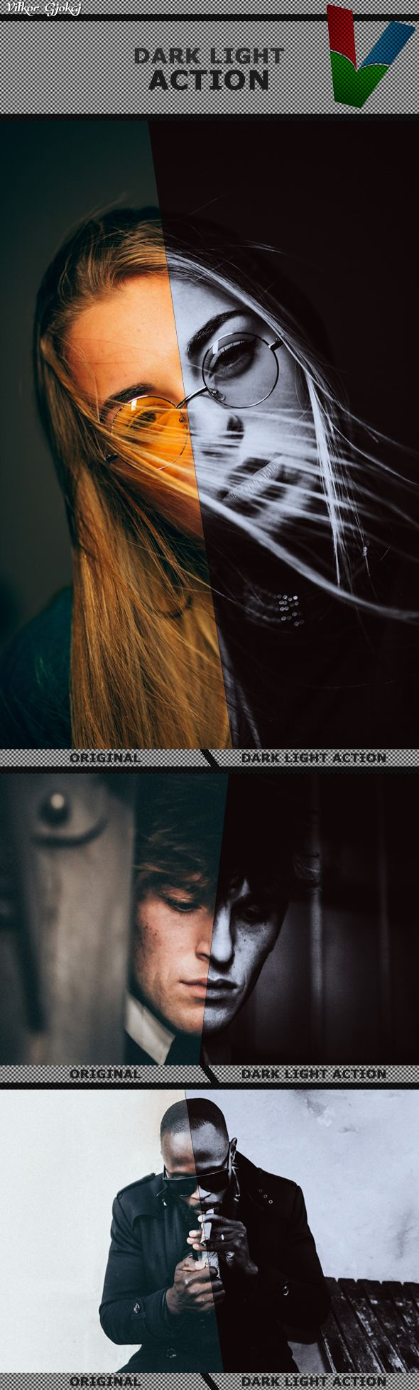 Dark Light Action — Photoshop ATN #model effects #professional • Available here → https://graphicriver.net/item/dark-light-action/20982185?ref=pxcr