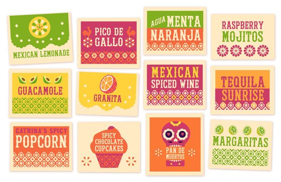 Free printable signs: Food & Drink, Day of the Dead Party Printables!