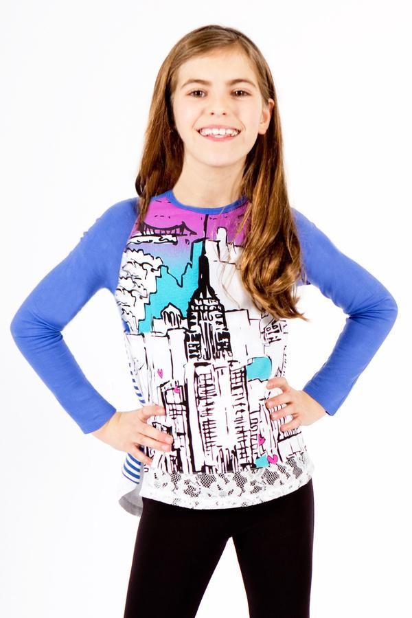 Girls fun New York print by limeapple
