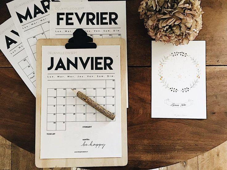 Kit planner 2017 à imprimer - Le Blog de Madame C