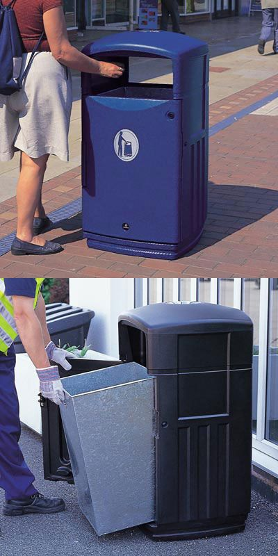Futuro™ litter bin is stylish and modern with two large apertures. Available in a choice of colours. #GlasdonUK #ExternalLitter #Bins