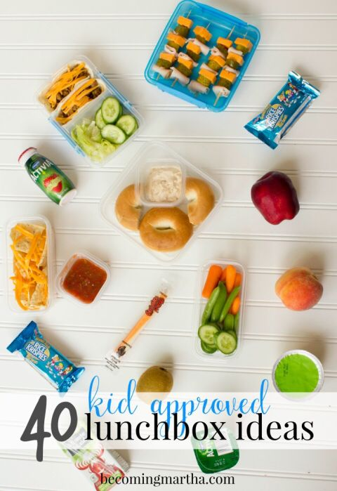 Over 40 kid (and mom) approved ideas for their back to school lunch boxes!