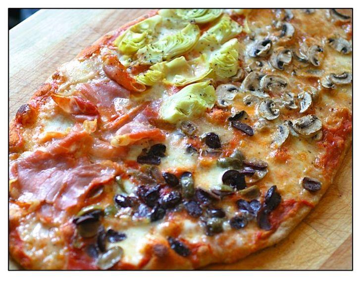 My favorite pizza in Naples ~ Pizza Quattro Stagioni