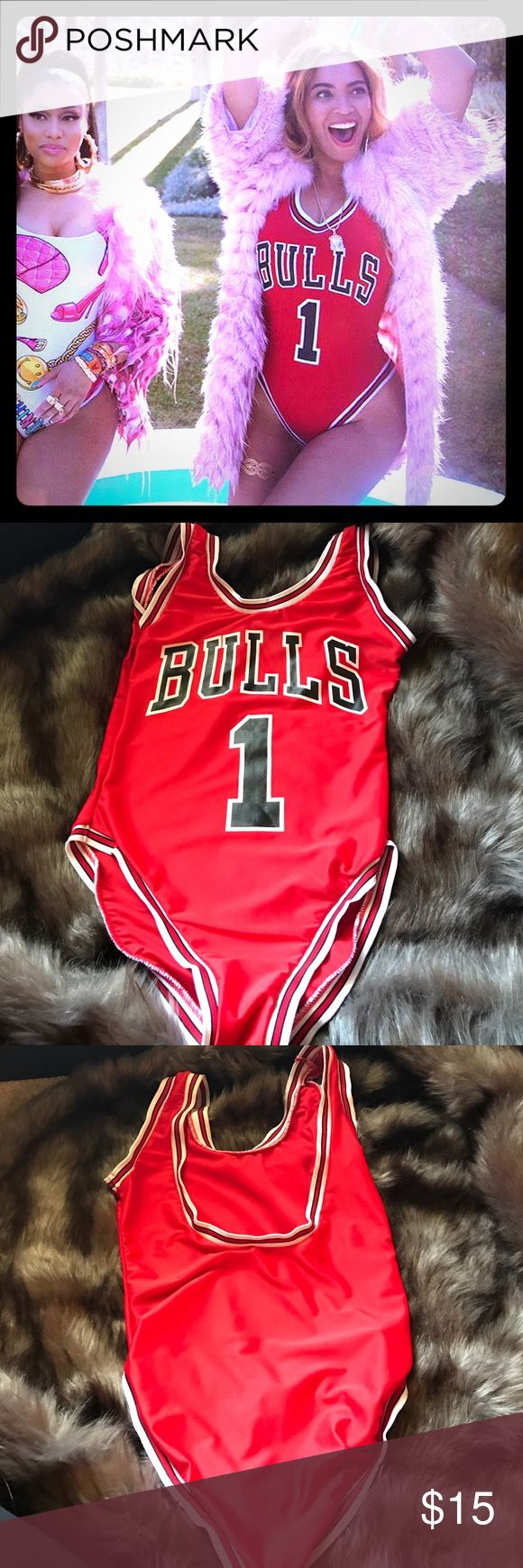 Bulls Swimsuit Leotard - Beyoncé inspired ❤️ Be like Beyoncé in this cute one piece swimsuit! I'm minimizing my closet, so it's all yours! Good condition Swim One Pieces