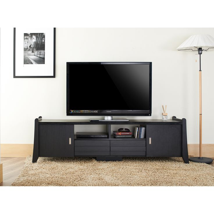 keep your living space clutterfree with this unusual yet functional tv stand