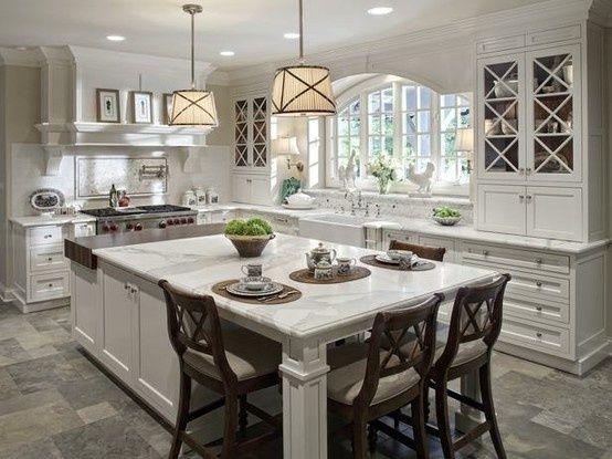 Kitchen Kitchen Kitchen: Butcher Block, Window, Dream House, Kitchen Design, Kitchen Ideas, Kitchen Islands, Dream Kitchens, White Kitchens
