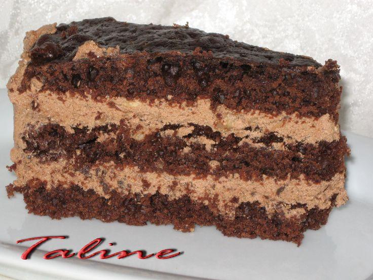 Шоколадный мокко торт