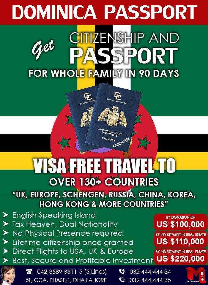 Get Dominica Passport Through Investment Travel Visa Business Visa Educational Consultant