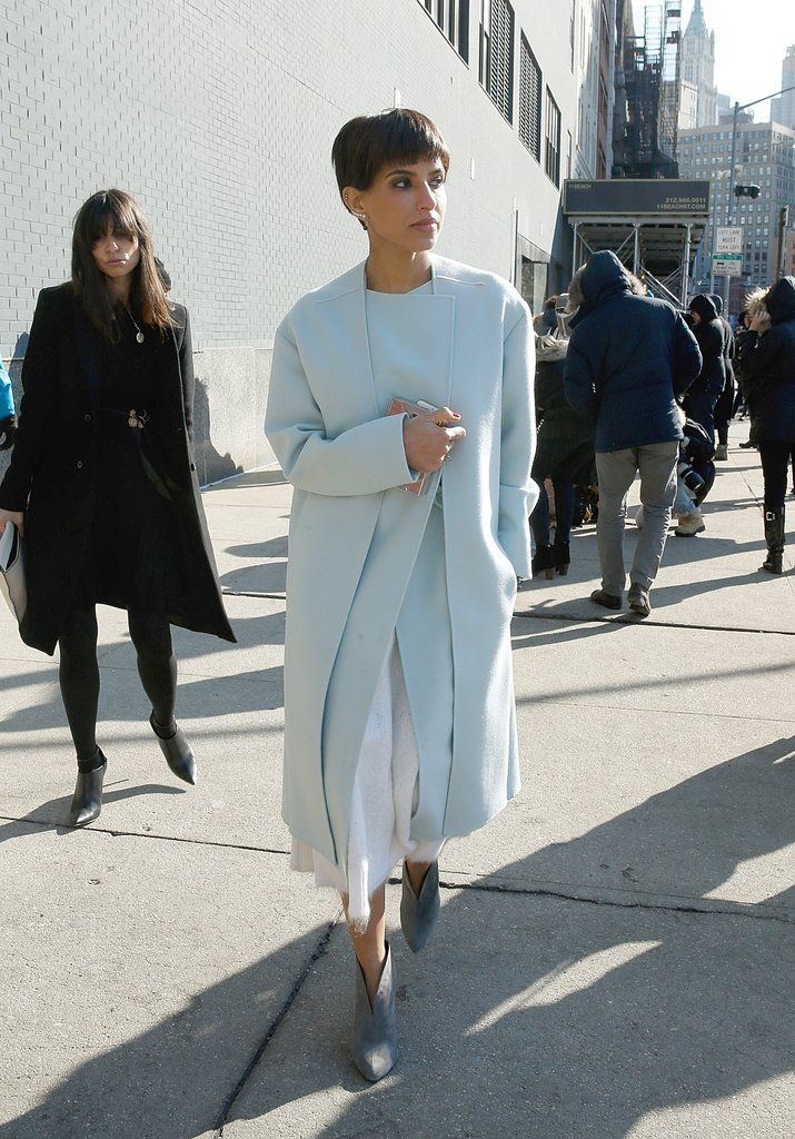 Her Outfits Fall Into the Modern and Feminine Silhouette Category