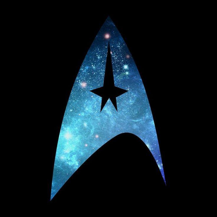 Star Trek Galaxy Silhouette Star Fleet Logo Men's T-Shirt by Nova5 - Cloud City 7