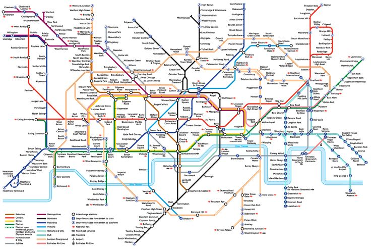 This is a map off London underground and this show the order and the disorder of it.