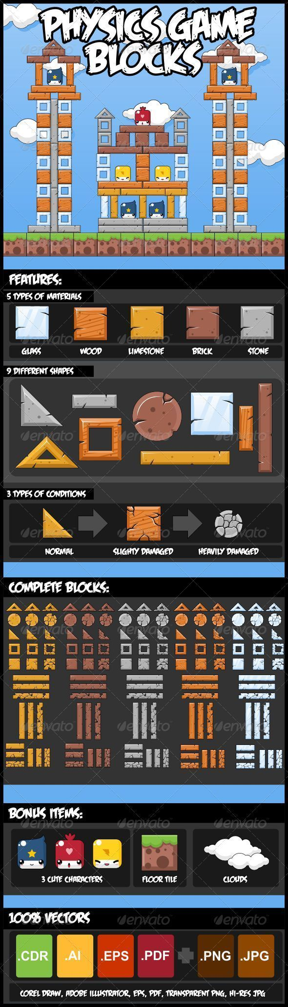 Physics Game Block Set Download here: https://graphicriver.net/item/physics-game-block-set/2982272?ref=KlitVogli