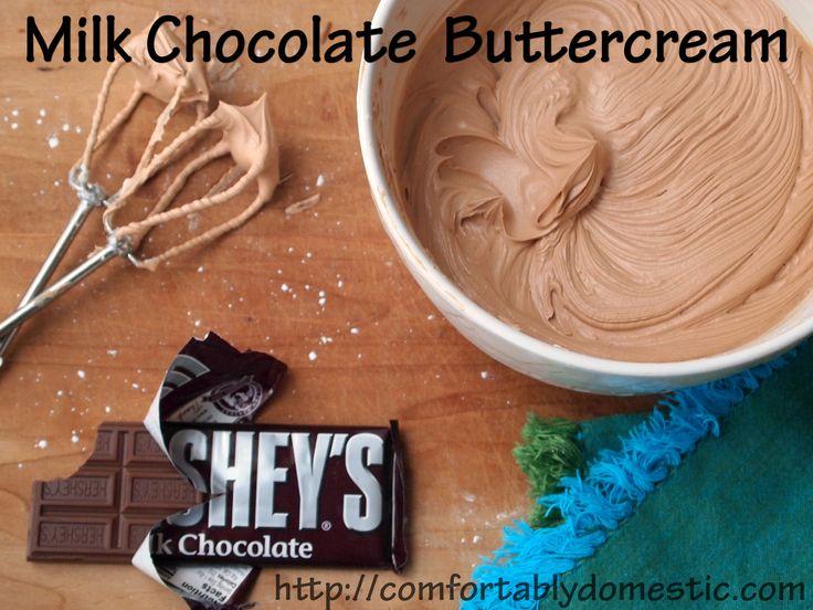 milk chocolate butter cream frosting!