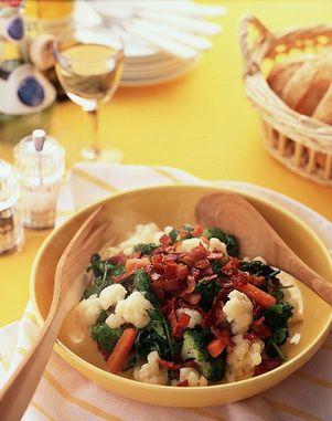 三色野菜のホットサラダ | 村田裕子さんのレシピ【オレンジページnet】プロに教わる簡単おいしい献立レシピ