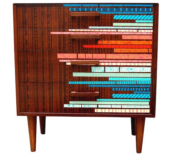 Zoe Murphy furniture.  DIY with washi tape??!!