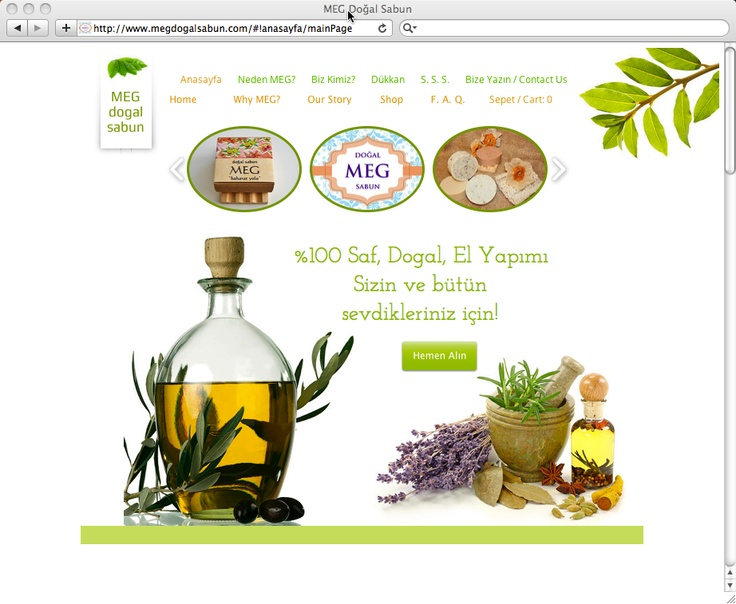 Buy all-natural soaps from the lovely boutique online store MEG Dogal Sabun