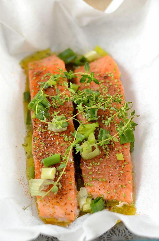 Papillote de saumon au four