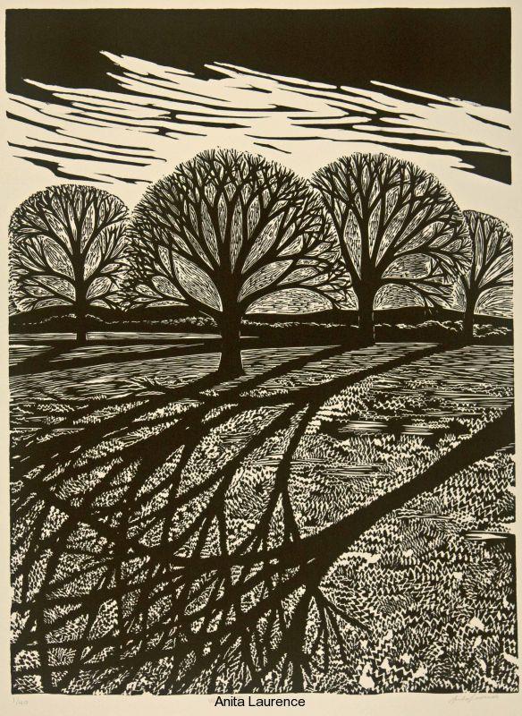 For Arts Sake | Print maker : Anita Laurence, Winter II, linocut