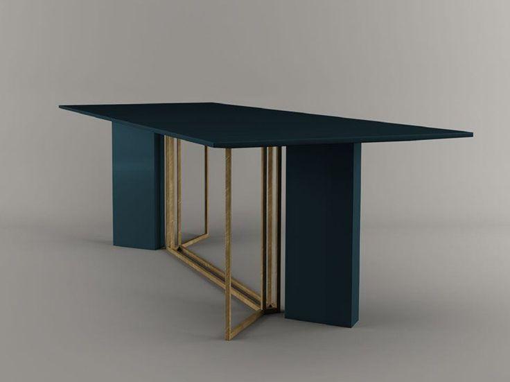 PLINTO Mesa rectangular by Meridiani diseño Andrea Parisio